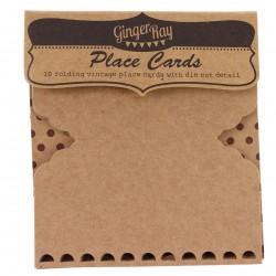 Pak met 10 plaatskaarten Gingerray Vintage Kraft