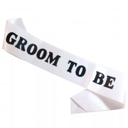 Sjerp Groom to Be wit met zwarte letters