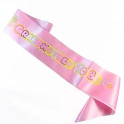 2-delige Babyshower sjerpen set Mommy en Grandma to Be roze met pastel kleuren