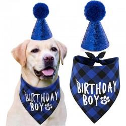2-delige Honden verjaardags set Birthday Boy donker blauw