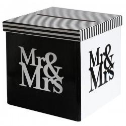 Enveloppendoos Mr and Mrs Black and White