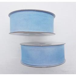 2 rollen chiffon lint licht blauw