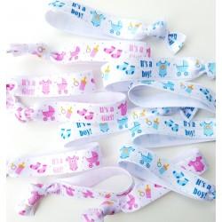 12 elastische gender reveal armbanden It's a Girl en It's a Boy