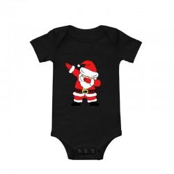 Baby romper Kerstman Dab zwart