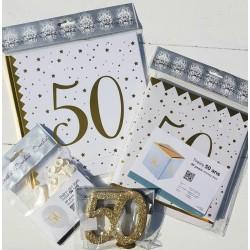 Set voor een 50e verjaardig of gouden jubileum
