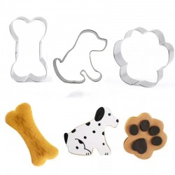 3 verschillende honden koekjes vormen