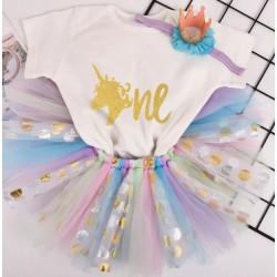 1e verjaardag cakesmash set Unicorn de Luxe