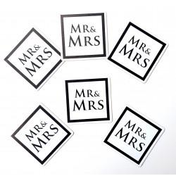 24-delige onderzetter set Mr & Mrs