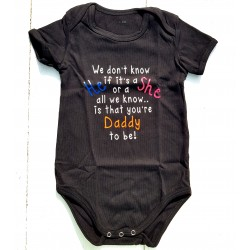 Rompertje We don't Know if it's a He or a She wit Daddy to Be