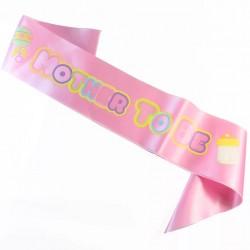 Babyshower sjerp roze Mother to Be roze met pastelkleuren