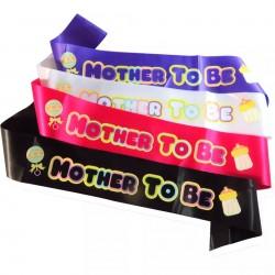 Babyshower sjerp roze Mother to Be zwart met pastelkleuren