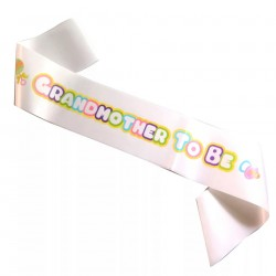 Babyshower sjerp roze Grandmother to Be wit met pastelkleuren