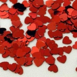 Glansconfetti 'Red Hearts'