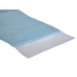 Organza tafelloper licht blauw, afmeting 30 x 270 cm