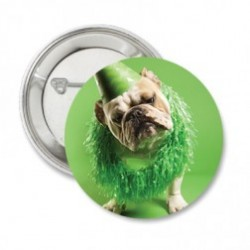 Button of sleutelhanger 'Bulldog' green