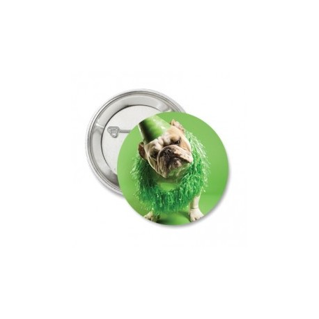 Button of sleutelhanger 'Bulldog' green