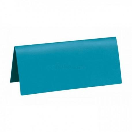 Pak met 10 plaatsnaamkaarten 7 x 3 cm blauw