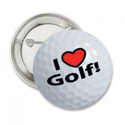 Button 'i love golf''