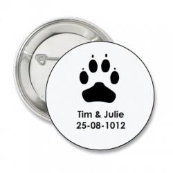 Button 'honden poot'