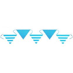 Trendy stippen en strepen vlaggenlijn blauw