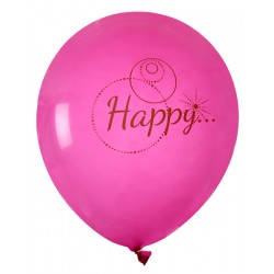 Ballon Happy roze