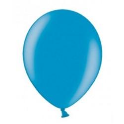 10 Ballonnen extra sterk metallic caribbean blue
