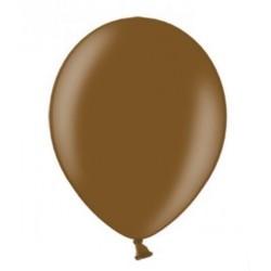 10 Ballonnen extra sterk Metallic chocolade bruin