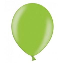 10 Ballonnen extra sterk Metallic helder groen