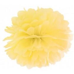 Pompoms 25 of 35 cm zacht geel