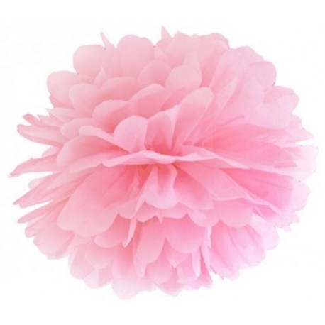 Pompoms 25 of 35 cm licht roze
