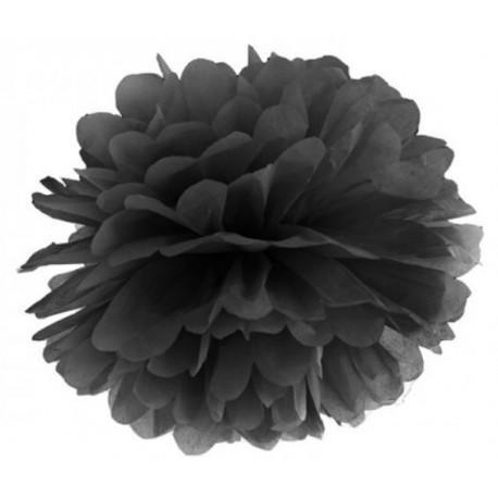 Pompoms 25 of 35 cm zwart