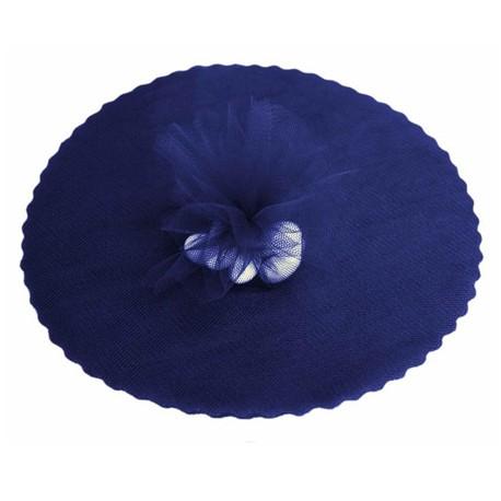 Pak met 25 licht donker blauwe tules rond met een doorsnede van 22.5 cm