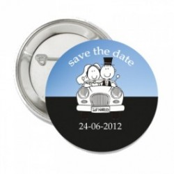 Button Weddingcouple blue