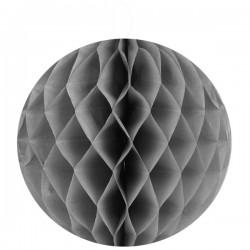 Pak met 2 honeycomb bollen S, M of L zilver grijs