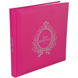 Gastenboek Just Married roze