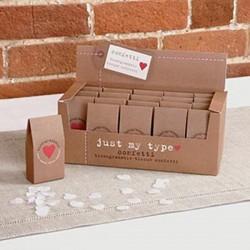 Doosje met 20 gram ivoorkleurige milieu vriendelijke papier confetti Just My Type