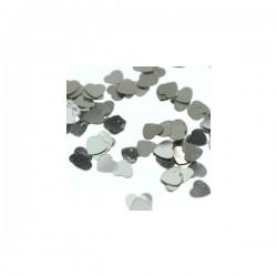 Glansconfetti 'Silver Mini Hearts'