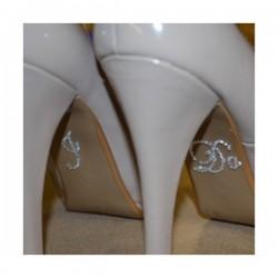 'I do' schoen sticker met strassteentjes