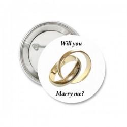 Button huwelijksaanzoek Wedding rings
