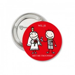 Button huwelijksaanzoek Wil je met me trouwen?