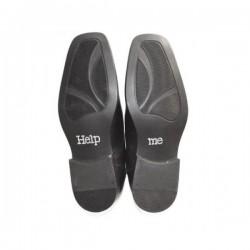 'Help Me' schoen sticker met strassteentjes