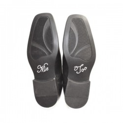 'Me too' schoen sticker met strassteentjes