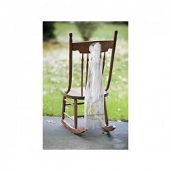 Set met 2 prachtige en super betaalbare stoel c.q. kerkbank decoraties in wit of ivoor
