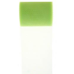 Tule rol 8 cm breed en 10 meter lang groen