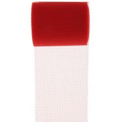 Tule rol 8 cm breed en 10 meter lang rood