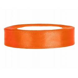 Satijn lint 25 meter lang in diverse breedtes oranje