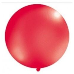 Reuze ballon met een doorsnede van 1 meter pastel rood