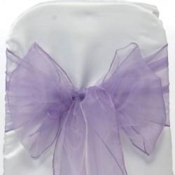 Organza stoelstrik lila