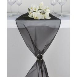 Organza tafelloper zwart