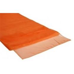 Organza tafelloper oranje